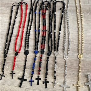 Cross  style different necklaces
